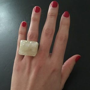 Anthropologie one-of-a-kind crystal ring